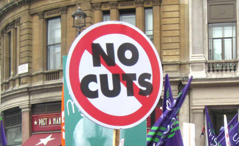No Cuts placard, People's Assembly Against Austerity. Photo: Flickr/Kevin Walsh