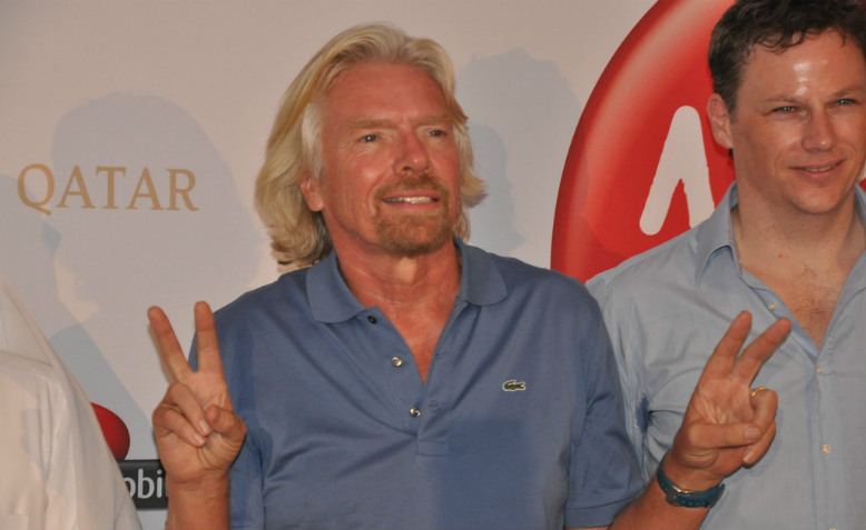 Richard Branson at Virgin Airline event, May 2010. Photo: D@LY3D via flickr