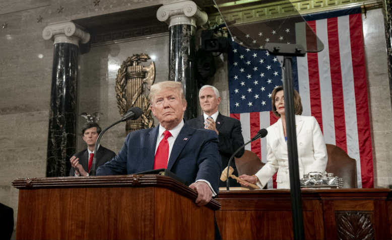Trump's State of the Union address, 2020. Photo: Public Domain
