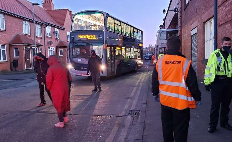 Activists blocking Go North West buses