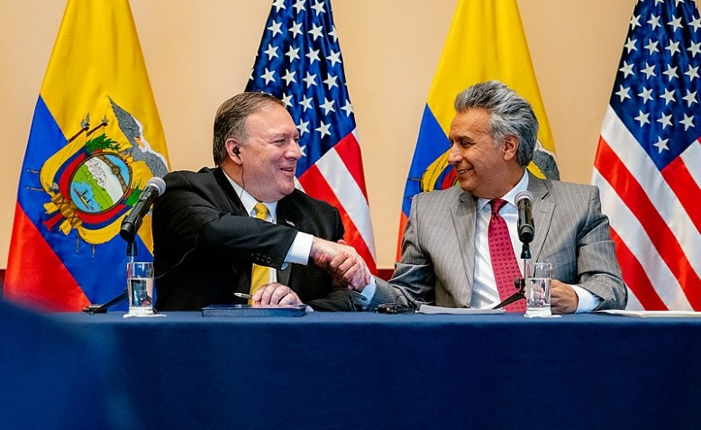 Photo: Public Domain / Mike Pompeo and Lenin Moreno
