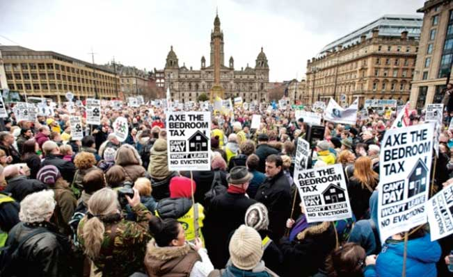 Bedroom Tax protest