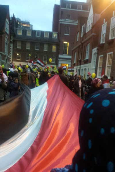Egpt protestors in London
