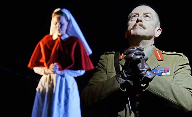 Ian Bartholomew in 'Oh What A Lovely War' at the Theatre Royal, Stratford East
