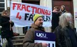 SOAS picket line