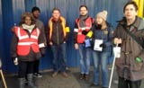 Pickets at Brixton