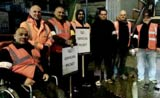 Picket line at Harrow on the Hill station. Photo by Manuel Cortes