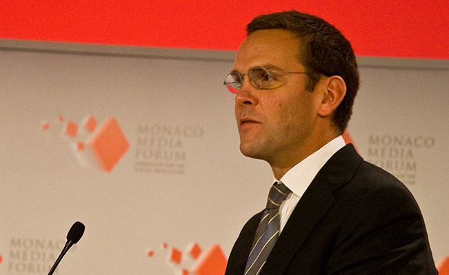 James Murdoch speaking at Monaco Media Festival. Source: Wikimedia