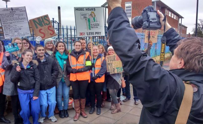 Junior Doctors on the picket line
