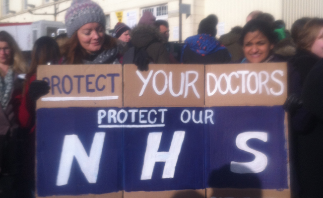 Junior doctors' picket