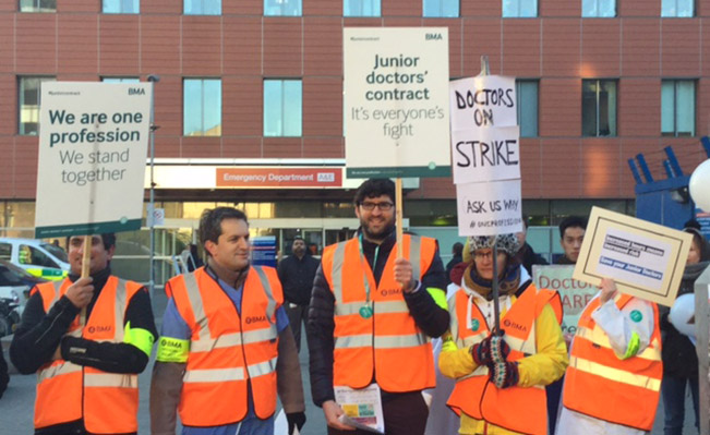 Junior Doctors strike at The Royal London Hospital