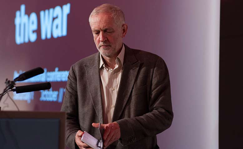 Jeremy Corbyn at Stop the War's 2016 Conference. Photo: Jim Aindow