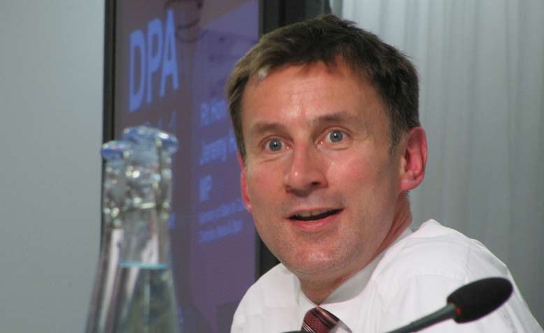 Jeremy Hunt MP at DPA 2011. Photo: Flickr / HowardLake