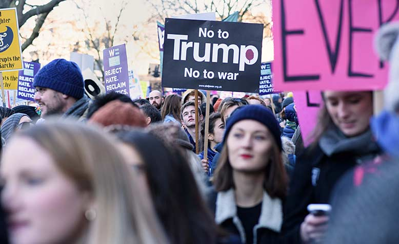 Women's march on London, 2017. Photo: Jim Aindow