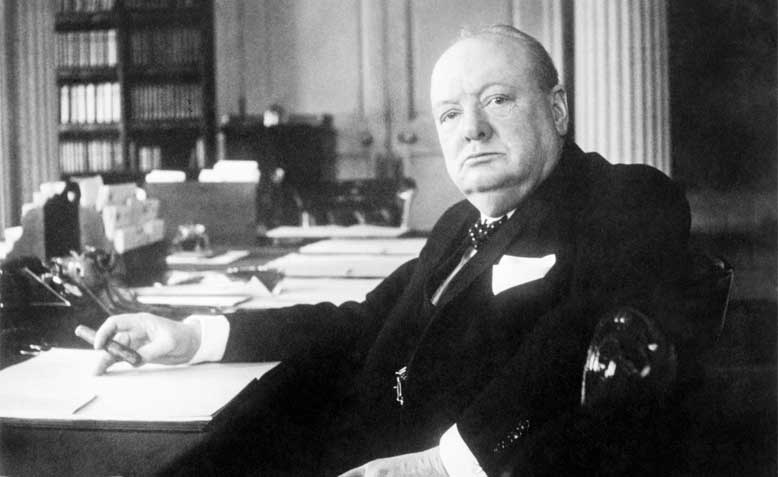 Winston Churchill: photo: wikimedia commons
