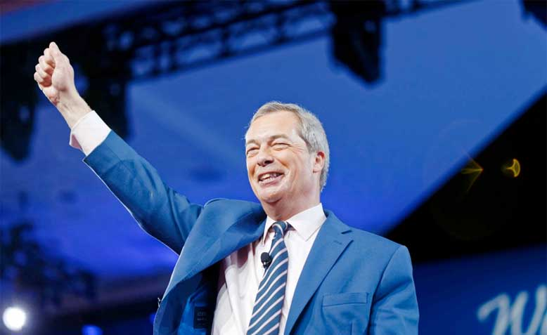 Nigel Farage at CPAC: photo: Michael Vadon