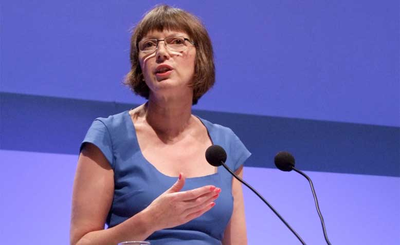 Frances O'Grady at the TUC Congress: photo: wikimedia commons