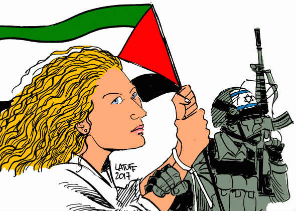 Cartoon: Carloss Latuff / Mondoweiss