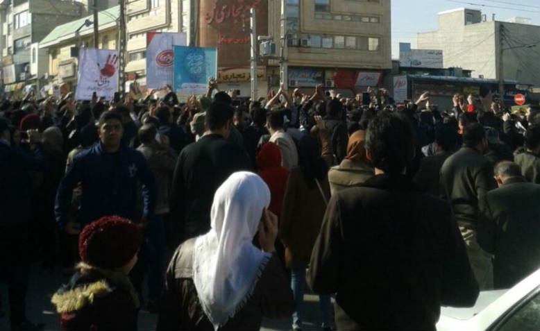 Protests in Kermanshah, Iran, 29th December 2017. Photo: Wikimedia Commons
