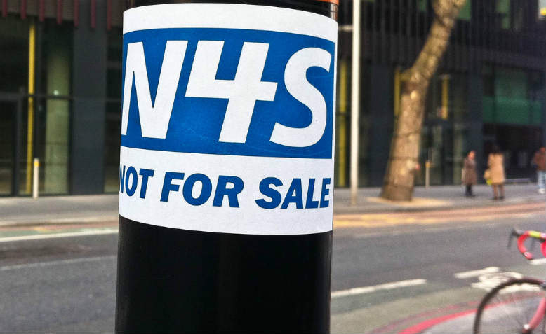NHS - Not 4 Sale. Photo: Flickr/secretlondon123