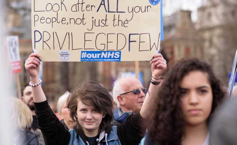 'It's our NHS' National Demonstration, 2017. Photo: Jim Aindow / Flickr