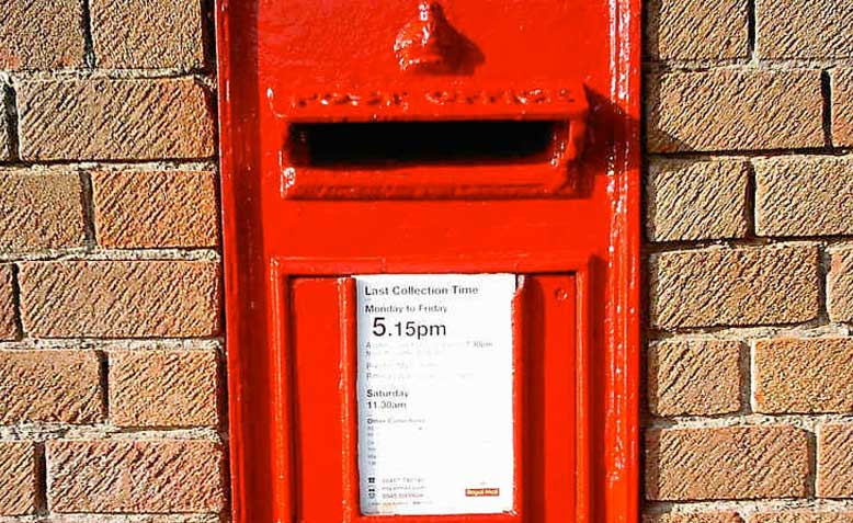 Wall-mounted letter box