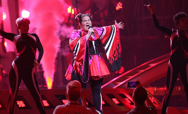 Israel's winning Eurovision performer Netta Barzilai performs at the contest on 12 May 2018. Photo: Wikimedia Commons