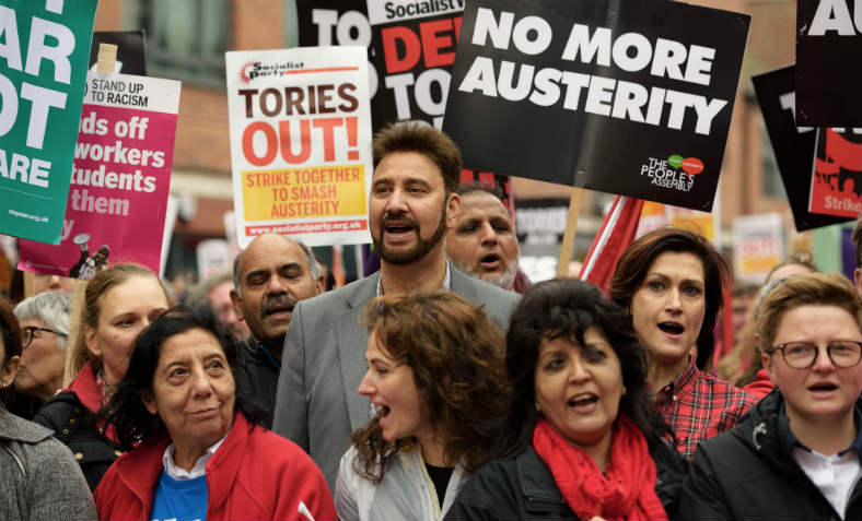 People's Assembly Against Austerity protest at the Tory Party Conference on October 1st 2017. Photo: Jim Aindow
