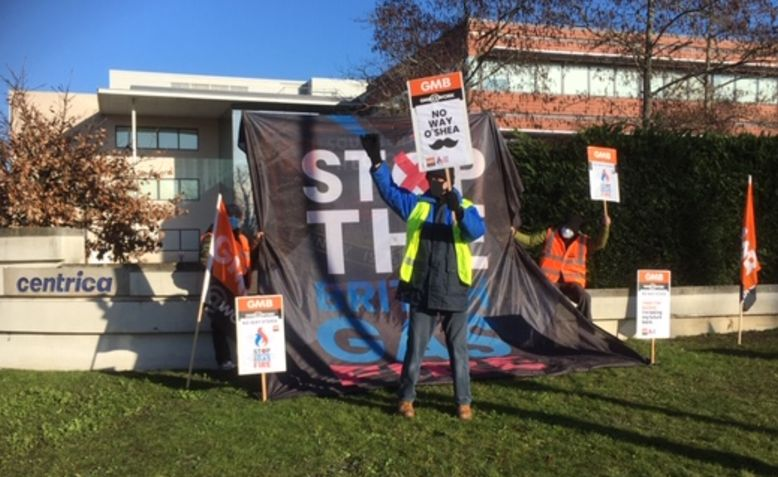 British Gas strike picket line