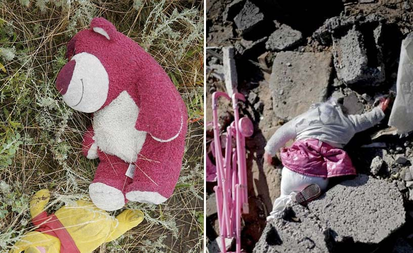 Children's toys in Ukraine and Gaza