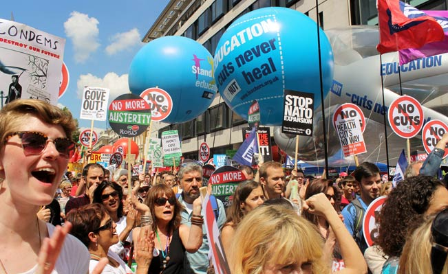 People's Assembly protest 21 June 2014