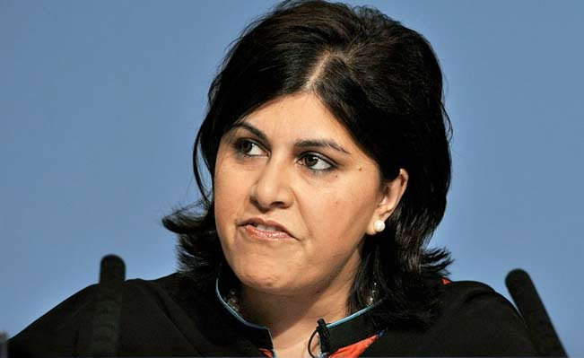 Baroness Warsi left a message on Twitter following her resignation Photo: AFP/Getty