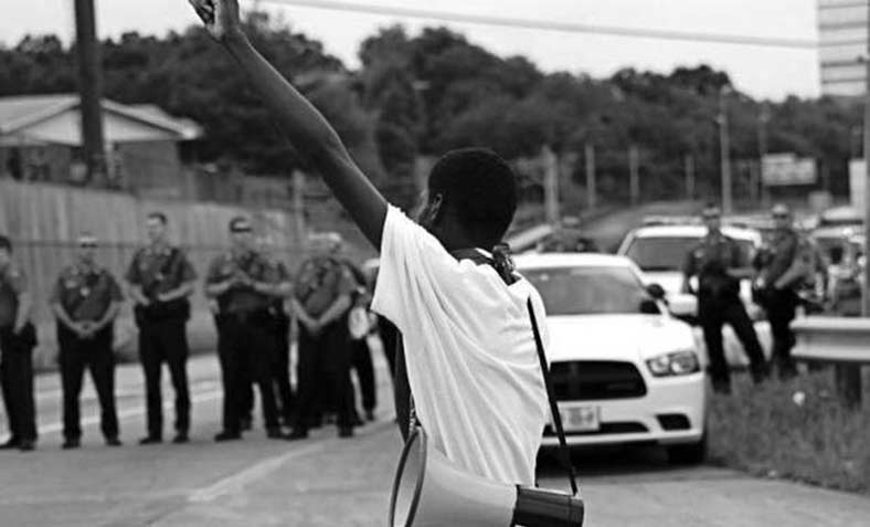 Black Lives Matter protester. Photo: TNBM