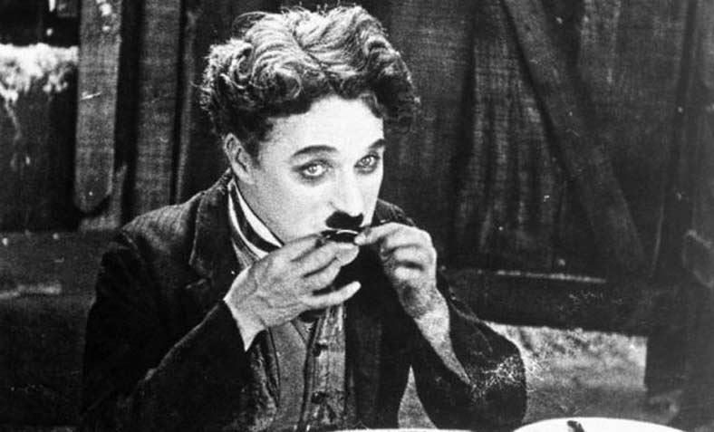 Charlie Chaplin eats a boot in his 1926 film, The Gold Rush. Photo: Pixabay