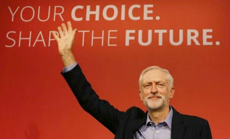 Corbyn's victory speech at Labour Party conference, 16 September 2015. Photo: YouTube