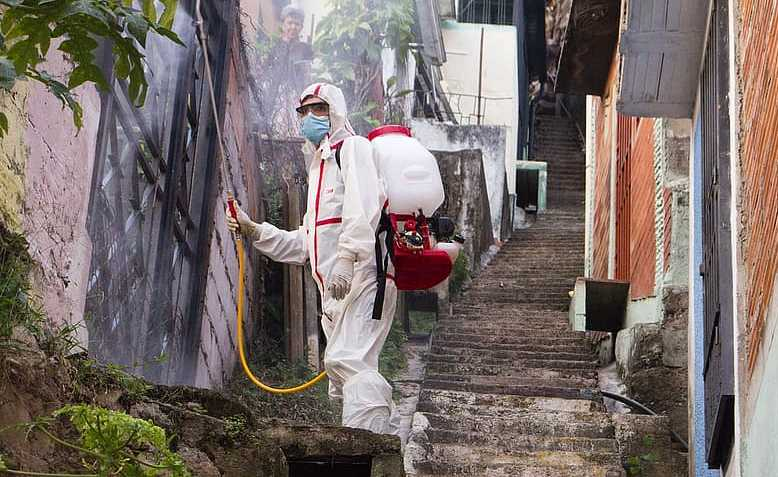 Disinfection of neighbourhoods during Coronavirus pandamic in Venezuela. Source: Pikist