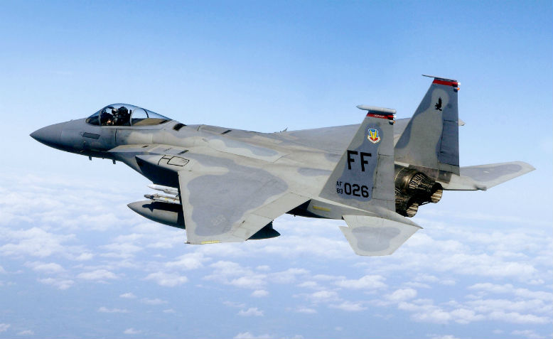 F15 71st Fighter Squadron in flight