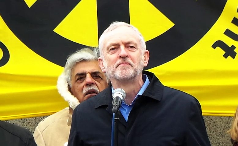 Jeremy Corbyn speaking at the Stop Trident demonstration, 2016. Photo: Gary Knight / Public Domain