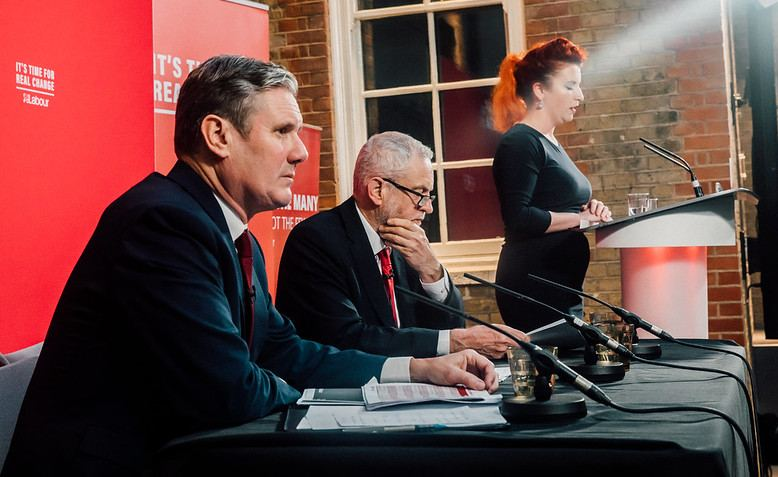 Keir Starmer along with Jeremy Corbyn