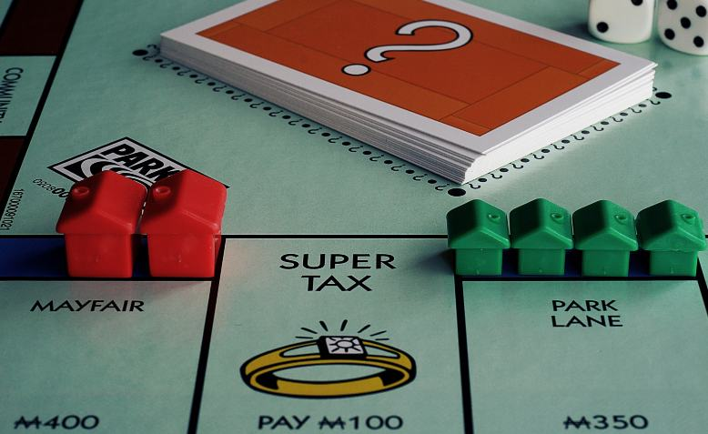 Monopoly Super Tax. Photo: Suzy Hazelwood / Pexels