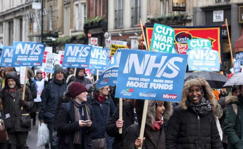 NHS demonstration, February 2018. Photo: David Bailey