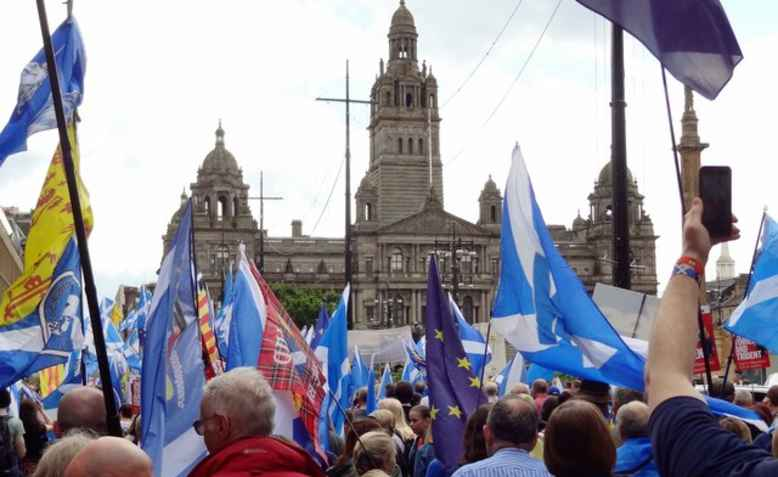 March for independence, George Square, Glasgow, 2017. Photo: Ian Cunliffe