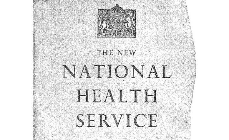 The New National Health Service pamphlet, 1948. Photo: Wikimedia Commons