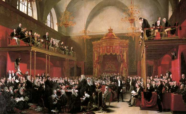 The Trial of Queen Caroline by Sir George Hayter. Photo: Public Domain