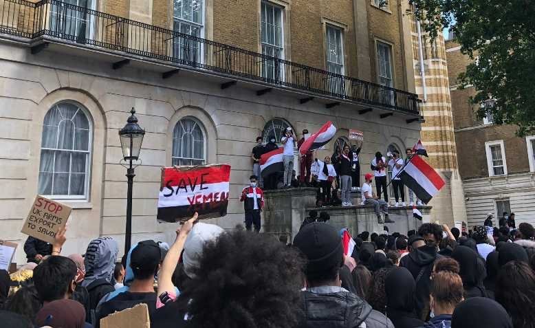 Protest for Yemen, London, 6 July. Photo: Lucy Nichols