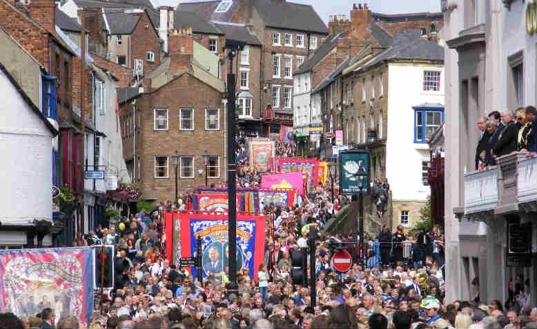 Durham Miners' Gala in 2008. Photo: Wikimedia
