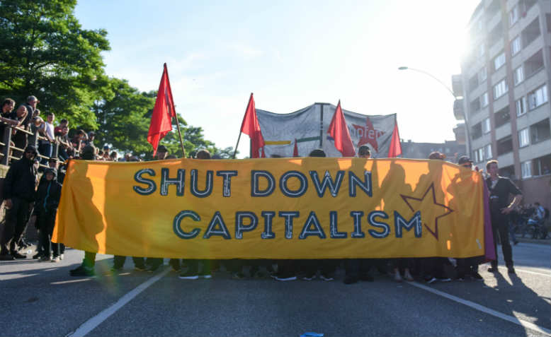 Anti-capitalist protesters at the G20 Summit in Hamburg. Photo: Flickr/Thorsten Schröder