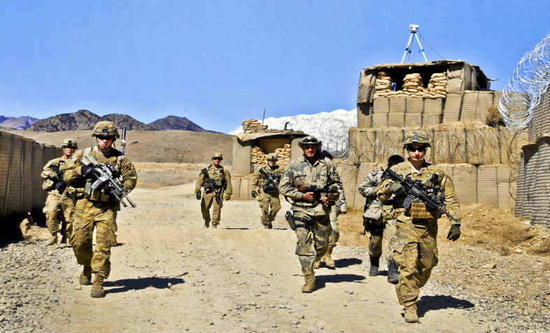 Western troops in Afghanistan