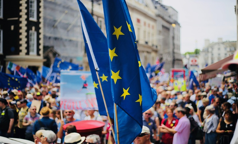 people demonstrating for a People's Vote on Brexit