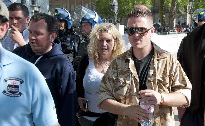 Far-right activist Tommy Robinson who is serving a 10-month prison sentence for contempt of court. Photo:  Andy Thornley